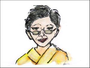 Emiko Miyashita, sketch byNaia