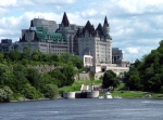 Ottawa River Locks And The Fairmont Chateau Laurier