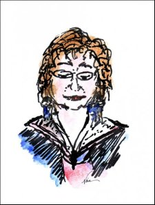 Sketch of Micheline Beadry, by Naia